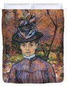 Portrait De Suzanne Valadon Madame Suzanne Valadon, Artiste Peintre 1885 Duvet Cover