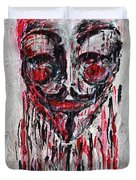 Portrait Melting Of Anonymous Mask Chan Wikileak Occupy Guy Fawkes Sopa Mpaa Pirate Lulz Reddit Duvet Cover