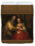 Portrait Of A Couple As Figures From The Old Testament Duvet Cover