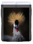 Portrait Of A Crowned Crane 2 Duvet Cover