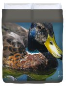 Portrait Of A Duck Duvet Cover