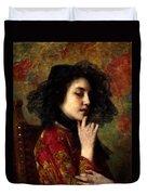 Portrait Of A Georgian Princess Duvet Cover