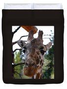 Portrait Of A Giraffe Duvet Cover
