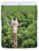 Portrait Of A Giraffe Duvet Cover