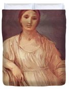 Portrait Of A Girl With Crown 1642 Duvet Cover