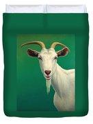 Portrait Of A Goat Duvet Cover by James W Johnson