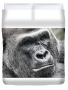 Portrait Of A Gorilla Duvet Cover by Jeff Swanson