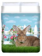 Portrait Of A Gregarious Brown Bunny Duvet Cover