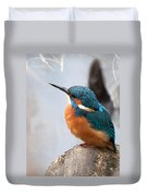 Portrait Of A Kingfisher Duvet Cover