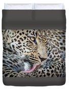 Portrait Of A Leopard Duvet Cover