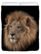 Portrait Of A Lion Duvet Cover