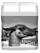 Portrait Of A Llama Mafia Leader Duvet Cover