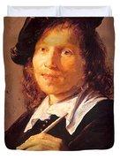 Portrait Of A Man 1640 Duvet Cover