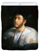 Portrait Of A Man Probably Cesare Borgia 1520 Duvet Cover