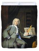 Portrait Of A Member Of The Van Der Mersch Family, 1736 Duvet Cover
