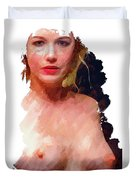 Portrait Of A Naked Lady Duvet Cover