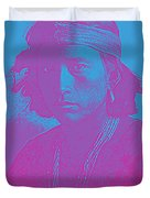 Portrait Of A Navajo Youth 4 Duvet Cover