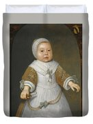 Portrait Of A One-year-old Girl Of The Van Der Burch Family Three-quarter Length Duvet Cover