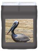 Portrait Of A Pelican Duvet Cover