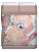 Portrait Of A Poet Duvet Cover by Fred Jinkins