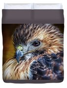 Portrait Of A Red-tailed Hawk Duvet Cover