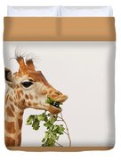 Portrait Of A Rothschild Giraffe IIi Duvet Cover