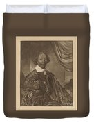 Portrait Of A Seated Man Duvet Cover