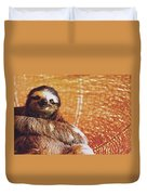 Portrait Of A Sloth Pet Looking In The Camera Duvet Cover