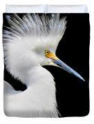 Portrait Of A Snowy White Egret Duvet Cover