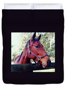 Portrait Of A Thoroughbred Duvet Cover