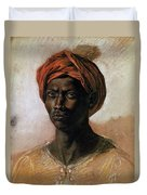 Portrait Of A Turk In A Turban Duvet Cover by Ferdinand Victor Eugene Delacroix