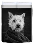 Portrait Of A Westie Dog 8x10 Ratio Duvet Cover