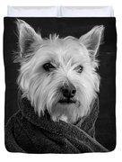 Portrait Of A Westie Dog Duvet Cover