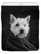 Portrait Of A Westie Dog Duvet Cover