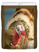 Portrait Of A Wild Turkey Duvet Cover