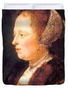 Portrait Of A Woman 1640 Duvet Cover