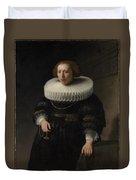 Portrait Of A Woman Probably A Member Of The Van Beresteyn Family Duvet Cover