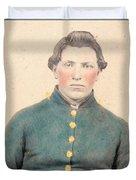 Portrait Of A Young  Civil War Soldier 3 Duvet Cover