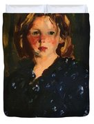Portrait Of A Young Girl Duvet Cover