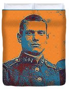 Portrait Of A Young  Wwi Soldier Series 12 Duvet Cover