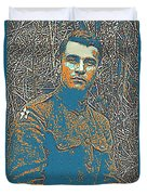 Portrait Of A Young  Wwi Soldier Series 16 Duvet Cover