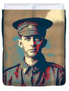 Portrait Of A Young  Wwi Soldier Series 19 Duvet Cover