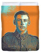 Portrait Of A Young  Wwi Soldier Series 6 Duvet Cover