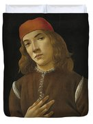 Portrait Of A Youth Duvet Cover