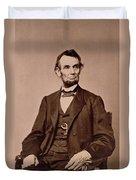Portrait Of Abraham Lincoln Duvet Cover by Mathew Brady