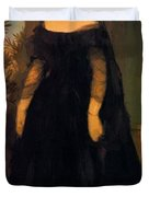 Portrait Of Actress Fanny Janauscher Duvet Cover