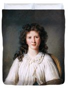 Portrait Of Adelaide Binart Duvet Cover