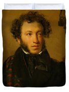 Portrait Of Alexander Pushkin 1827 Duvet Cover