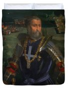 Portrait Of Alfonso I D Este 1530 Duvet Cover
