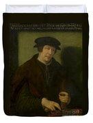 Portrait Of An Almoner Of Antwerp Duvet Cover